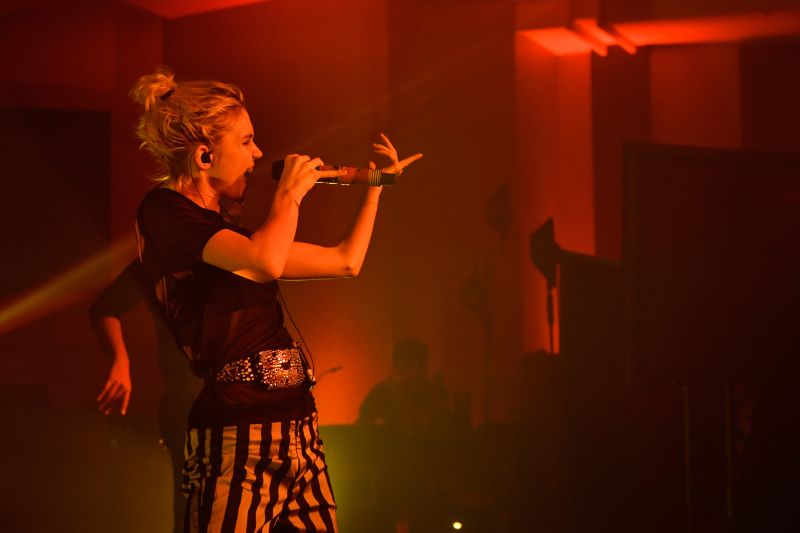 BERLIN, GERMANY - JULY 19:  Grimes wows fans and Hilton HHonors members in Berlin, Germany as part of the 2016 Hilton Concert Series on Tuesday, July 19. The concert, which took place at Hilton Berlin, is the fifth of seven shows being held at hotels within the Hilton portfolio this year. To find more ways you can rock out with Hilton this year, visit HHonors.com.  (Photo by Stefan Hoederath/Getty Images for Hilton)